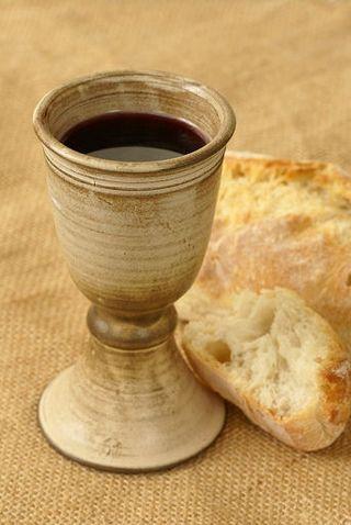 Eucharist bread wine